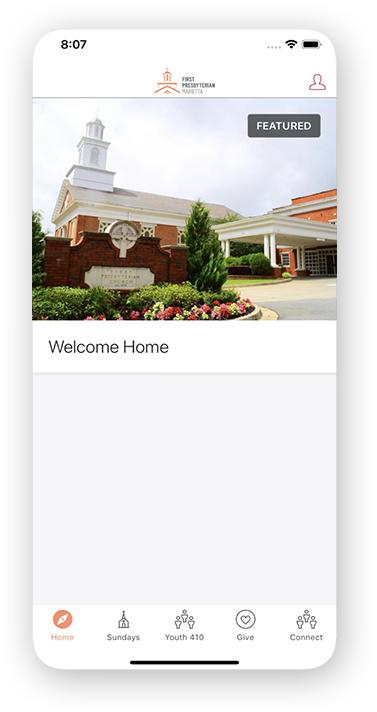 first presbyterian church mobile app
